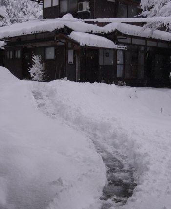 雪とりあえず通路