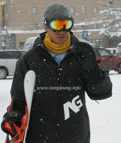 トニーさん@スノーボード中