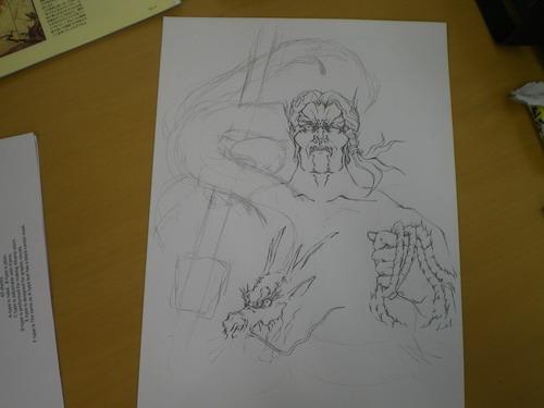 倶利伽羅剣=描き掛け