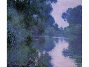 ジヴェルニー近郊のセーヌ川の朝
