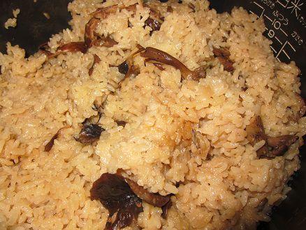 松茸シメジ炊き込みご飯