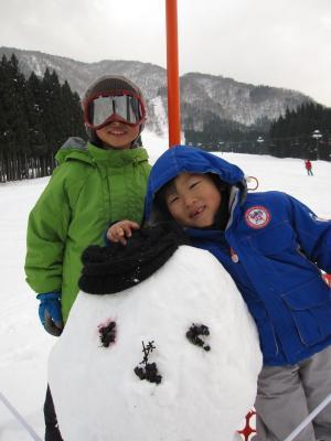 2012正月休み 白川郷 白弓スキー場