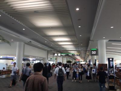 那覇空港に到着しました
