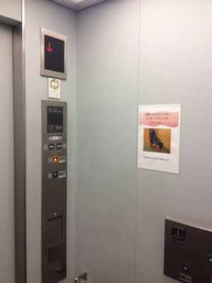 サクララウンジ入り口のエレベーター
