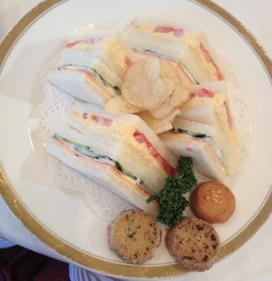 ティータイム懇親会の軽食