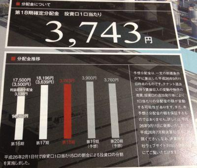 日本ロジスティクスファンド 安定した分配金推移