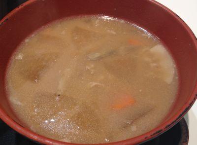牛バラ野菜焼定食 豚汁変更