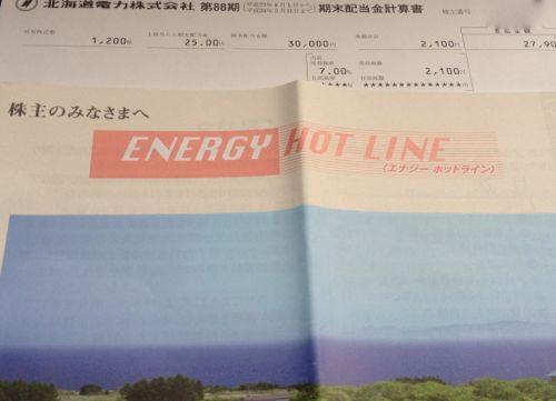 北海道電力配当金