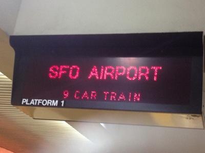 空港行き電車・まもなく到着