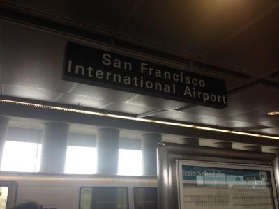 サンフランシスコ国際空港に到着