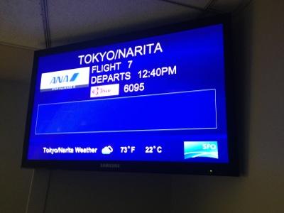 ANA7便搭乗開始
