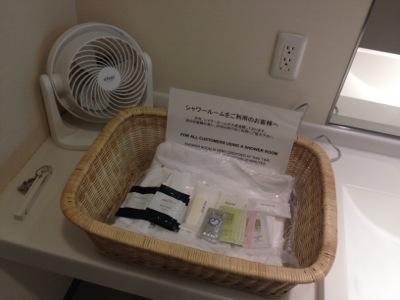 成田空港シャワーのアメニティ