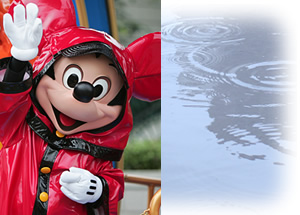 雨の日ミッキー