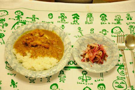 カレーの夕食