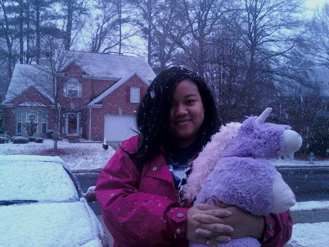 Tiffany with Snow!