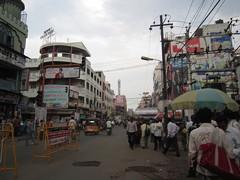 町の中心部