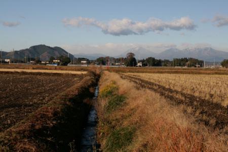 五行川の初冬