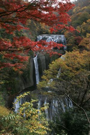 袋田の滝の秋