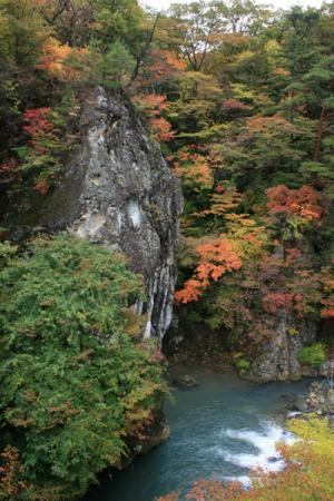 塩原温泉の秋
