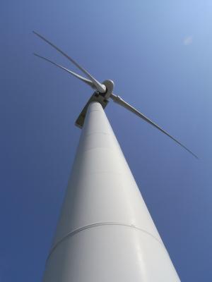 風力発電的な。