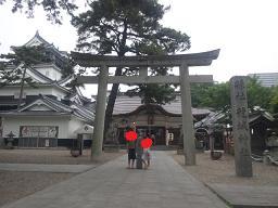 龍城神社にて