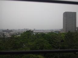 岡崎城から大樹寺方面を眺める