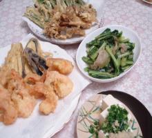 天ぷら 小松菜とザーサイの炒め物3