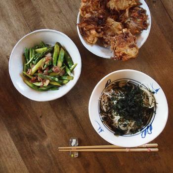かき揚げと素麺