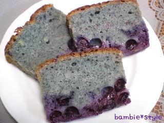 ブルーベリーのパウンドケーキ断面