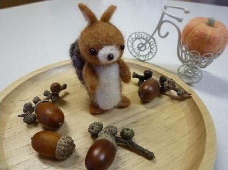 羊毛リス1