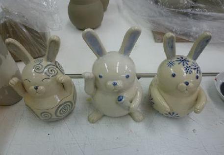 陶芸ウサギ1