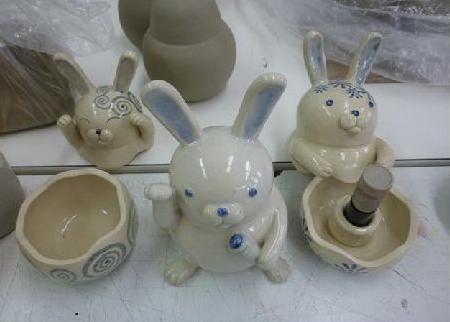 陶芸ウサギ2