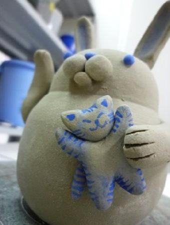 陶芸ウサギ4