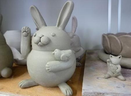 陶芸ウサギ5