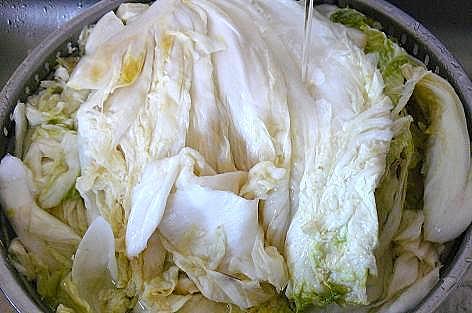 塩漬けした白菜♪