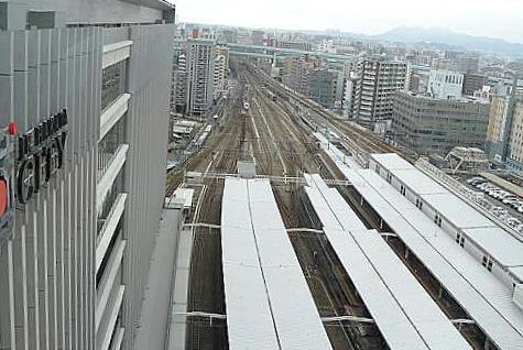 博多駅の上から♪