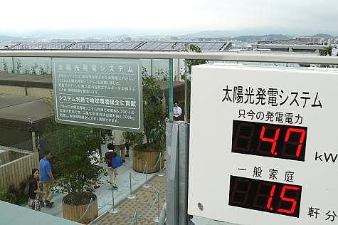 博多駅ビルの太陽光発電♪