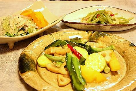 自家製夏野菜でオツマミ♪