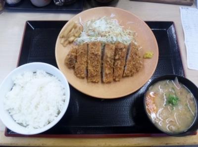 140924かつや名古屋名駅店ロースカツ定食690円が540円