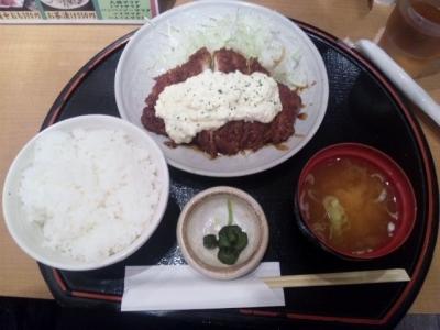 140925とんかつの藤味噌マヨチキン膳780円