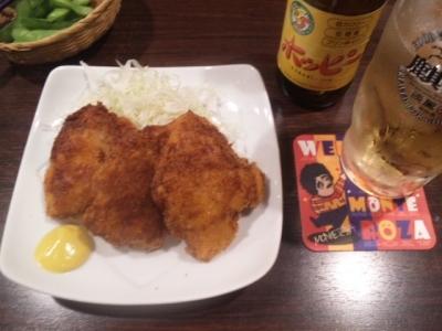 141002笑笑高蔵寺南口駅前店がんこ親父のたれカツ430円