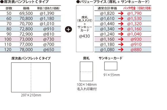 席次表Cタイプ価格表