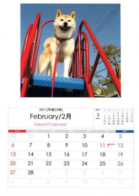 2011さくらカレンダー2月B