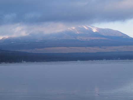 富士山が見えない!