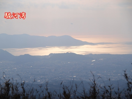 駿河湾が見えました