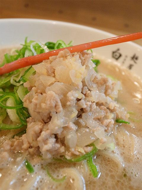 120729二代目-白たまり豚骨生姜麺・トッピング
