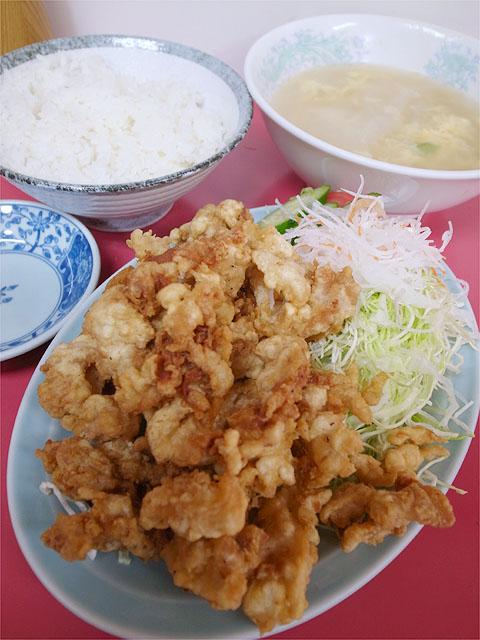 120625日之出食堂-肉の天ぷら定食