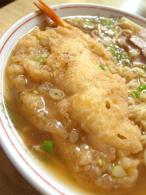 120818一八食堂-天ぷら入中華そば・天ぷら