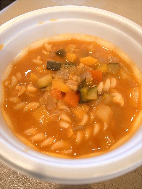 120923ロザ祭-野菜たっぷりミネストローネdeスープパスタ