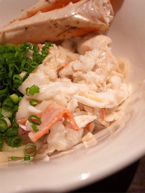 121110江戸YA-タラバガニとえび味噌のmazeそば・蟹